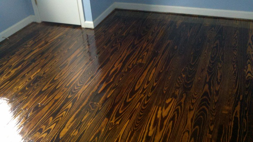 a refinished wood floor near oceanside, ca