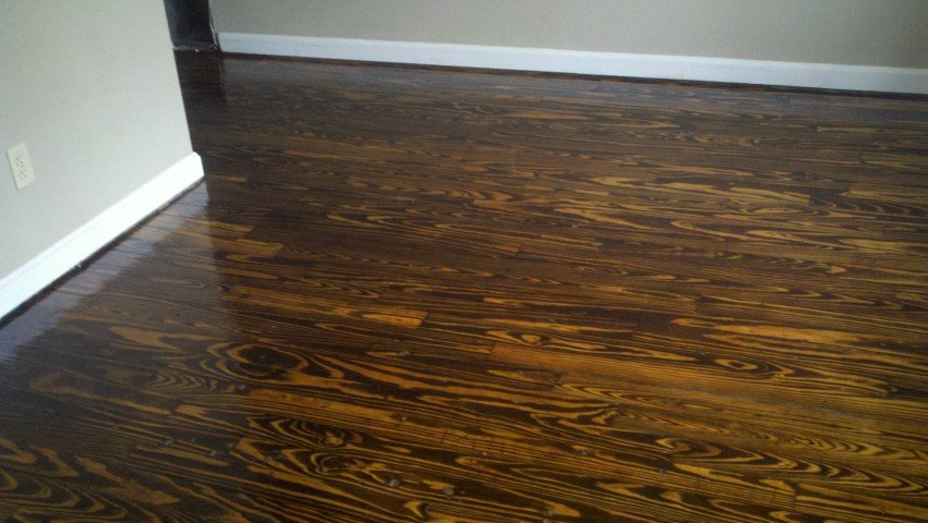 a refinished hardwood floor in the San Diego area