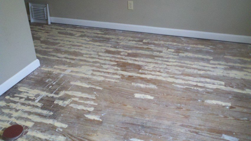 completely destroyed wood floors