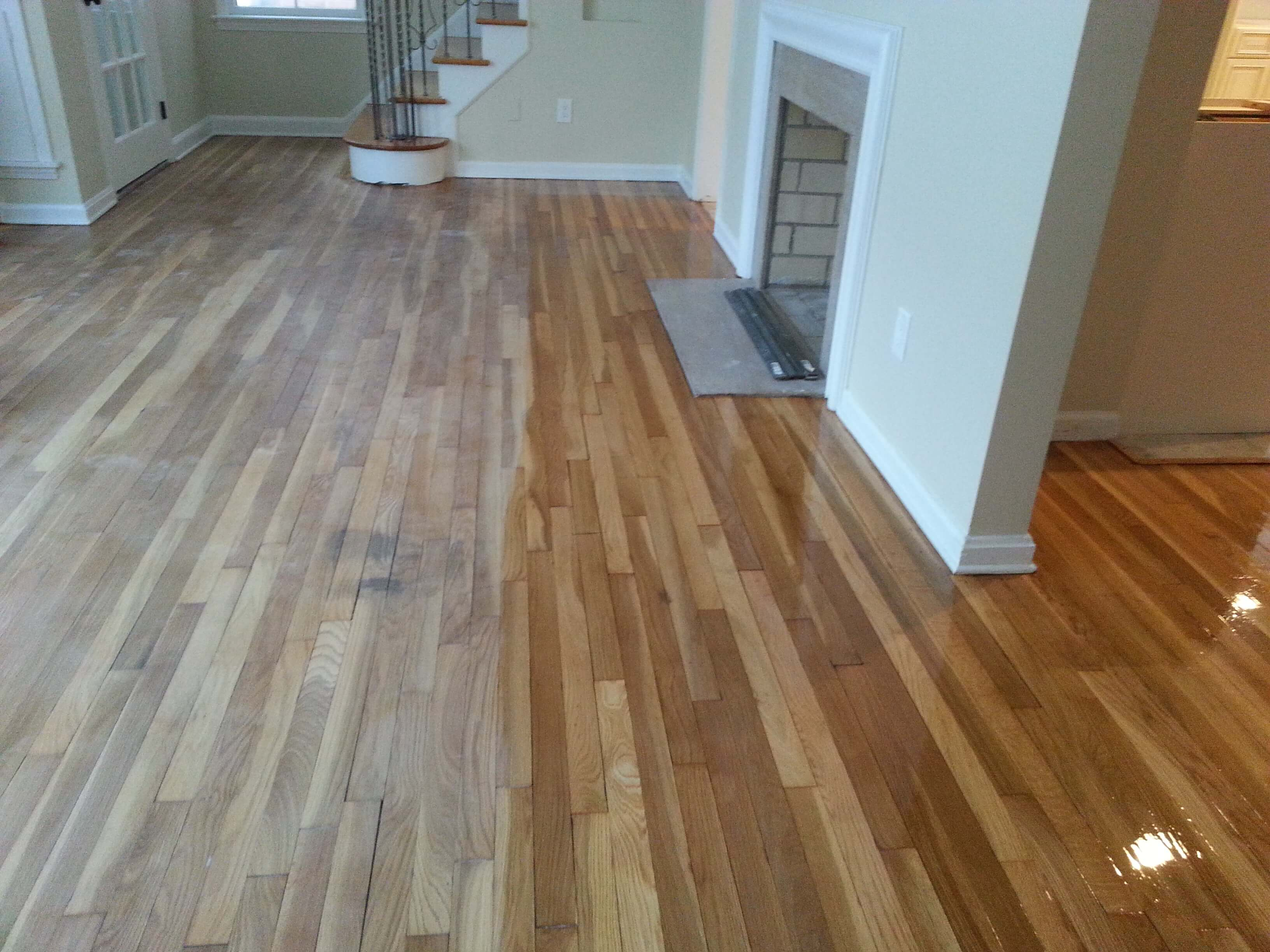 how to stain wood flooring