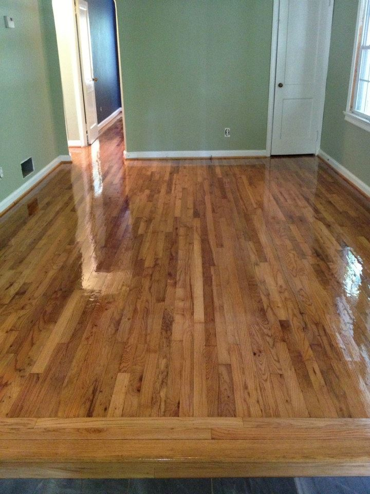 after our hardwood floor resurfacing service