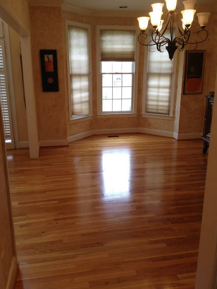 after one of our hardwood floor refinishing projects in San Diego