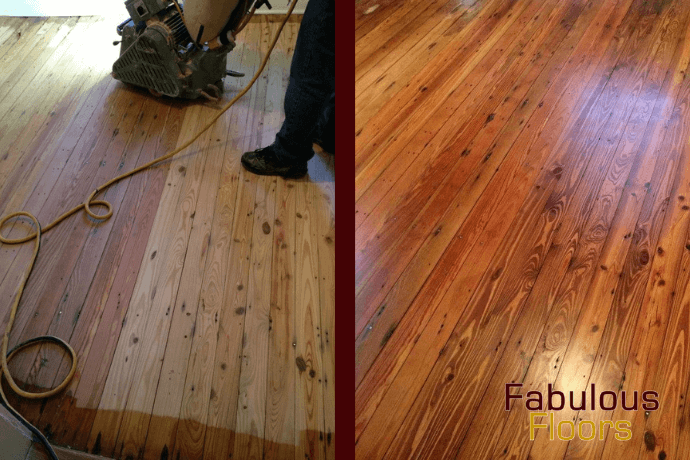 before and after hardwood floor refinishing in Chula Vista, CA